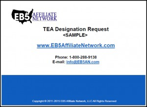 SAMPLE TEA Letter Analysis EB5 Affiliate Network