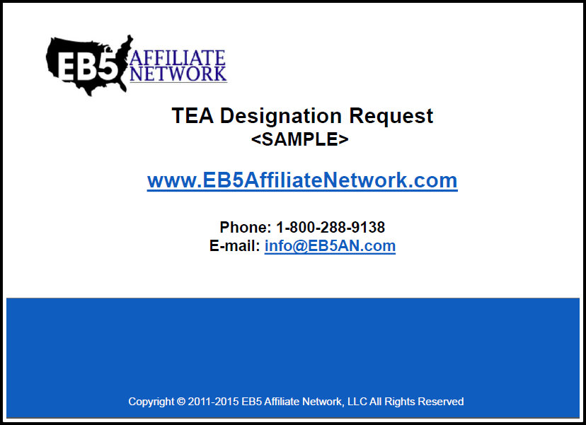 Eb 5 Tea State Agencies Eb5 Affiliate Network