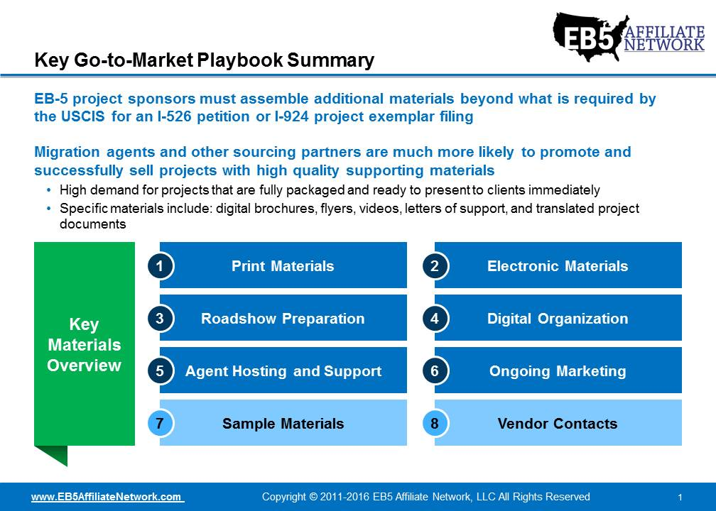 EB-5 Project Go-to-Market Playbook